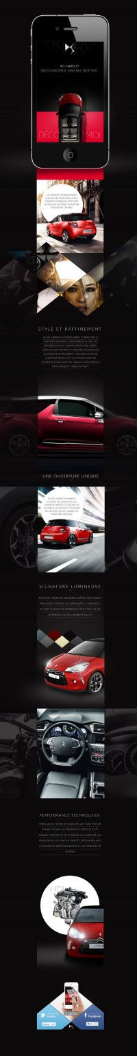 Citroen DS3 Cab on Web Design Served
