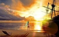 sunrise,bikini sunrise bikini beach seas vocaloid hatsune miku ships twintails 1920x1200 wallpaper – sunrise,bikini sunrise bikini beach seas vocaloid hatsune miku ships twintails 1920x1200 wallpaper – Ships Wallpaper – Desktop Wallpaper