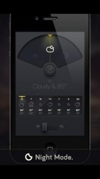 Weather Dial - A Simpler, More Beautiful Weather App for iPhone 3GS, iPhone 4, iPhone 4S, iPhone 5, iPod touch (3rd generation), iPod touch (4th generation), iPod touch (5th generation) and iPad on the iTunes App Store