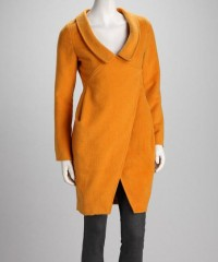 Mustard Collar Wool Coat | Daily deals for moms, babies and kids