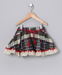 Olive Plaid Marissa Skirt - Toddler & Girls | Daily deals for moms, babies and kids