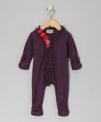 Amethyst & Red Rosette Ruffle Playsuit - Infant | Daily deals for moms, babies and kids