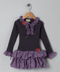 Lavender Ruffle Inna Dress - Toddler & Girls | Daily deals for moms, babies and kids