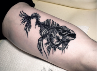 Fuck Yeah, Tattoos! — the-starlight-hotel: Fish Fossil tattoo by Ien...