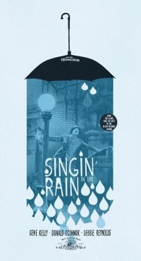 Singin' in the rain movie poster.