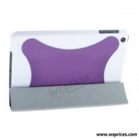 Wholesale PU Fold Smart Stand Cover Leather Case for iPad Mini - Purple [845] On WsPrices.com