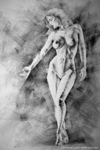 SketchBook Page 13 - Figure Drawing by Dimitar Hristov - 54ka