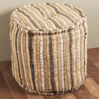 Interlude Home Saro Natural Ottoman | Wayfair