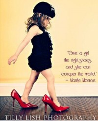 Be Inspirational / a girl's shoes....
