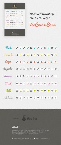 Icecreamcons - 96 Free Photoshop Vector Icons - Free PSD Download