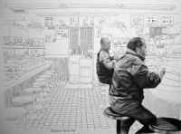 line drawing in a room picture on VisualizeUs