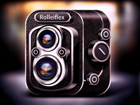Rolleiflex Camera Icon by Alex Bender