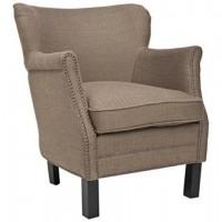 Jenny Brown Nailhead Armchair | LampsPlus.com