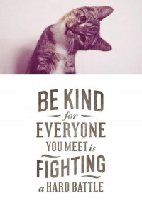 Be kind for everyone you meet is fighting a hard b - Words Over Pixels - Daily Inspiration