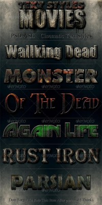 Add-ons - Movies Text Styles   GraphicRiver