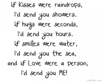 If kisses were raindrops...