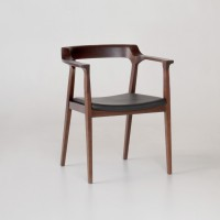 Caitlan Walnut & Leather Dining & Office Chair | Schoolhouse Electric & Supply Co.
