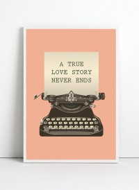 Typewritter poster A3 size Retro art print by angelaferrara