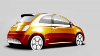 Fiat 500e Design Sketch - Car Body Design