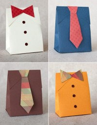 DIY Father's Day Shirt & Tie Gift Boxes | Paper Crave
