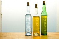 Hand-Crafted Etched Glass Bottles - Home for the Holidays