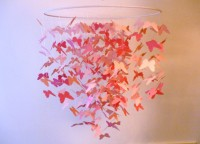 Butterfly Crib Mobile in PinkGreat for by HelloHuckleberry on Etsy