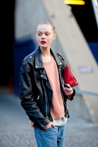 Layer up with a black leather biker jacket. - Topshop Tumblr