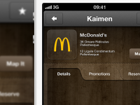 Restaurant App WIP - iPhone by Lewis Braid