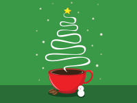 christmas coffee tree by Dong Woo Suh (xinsound)