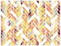 Wild Herringbone - Colorful Abstract Geometric Art
