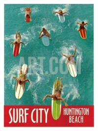Surf City, Huntington Beach Giclee Print at eu.art.com