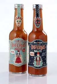 Steve Simpson's packaging for Mic's Chilli sauces — Lost At E Minor: For creative people
