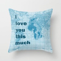 i love you this much Throw Pillow by Catherine Holcombe | Society6
