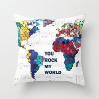 You Rock My World Throw Pillow by Catherine Holcombe | Society6