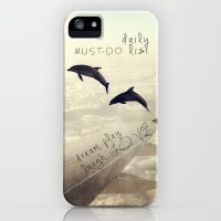 Monday Dream - Flying with My Dolphin Friends iPhone Case by Belle13 | Society6