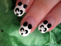 Panda Nail Art | NAILSPEDIA