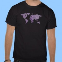 Prince purple wolrd map apparel tshirts from Zazzle.com