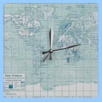 vintage blue map clock from Zazzle.com