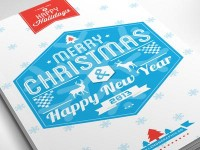 Typography Merry Christmas Card 2013 by Lemongraphic