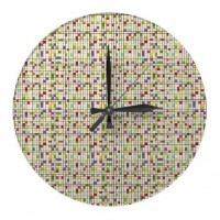 Square disorder clock from Zazzle.com
