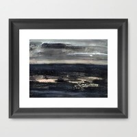 dark sea Framed Art Print by agnes Trachet | Society6