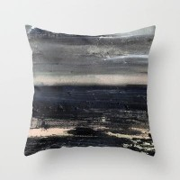 dark sea Throw Pillow by agnes Trachet | Society6