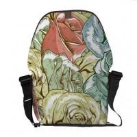 Vintage Roses Pattern Messenger Bag from Zazzle.com