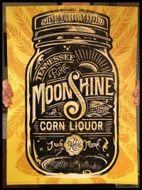 "OMG Posters! » Archive » ""Aldo's Tennessee Moonshine Corn Liquor"" Art Print by Derrick Castle"