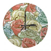 Vintage Roses Pattern Wallclock from Zazzle.com