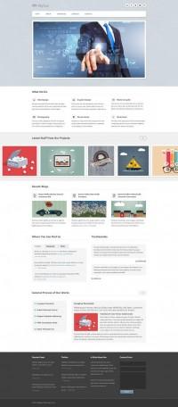 Skybox Free Homepage PSD