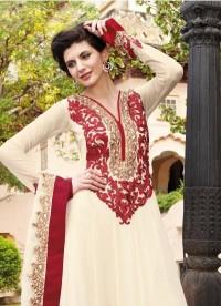 Chic Beige Brown & Brick Red Salwar Kameez - Salwar Kameez - Women