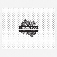 High Contrast Thank you card