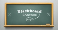 Psd Blackboard Showcase Slider | Psd Web Elements | Pixeden