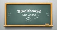 Psd Blackboard Showcase Slider | Psd Web Elements | Pixeden